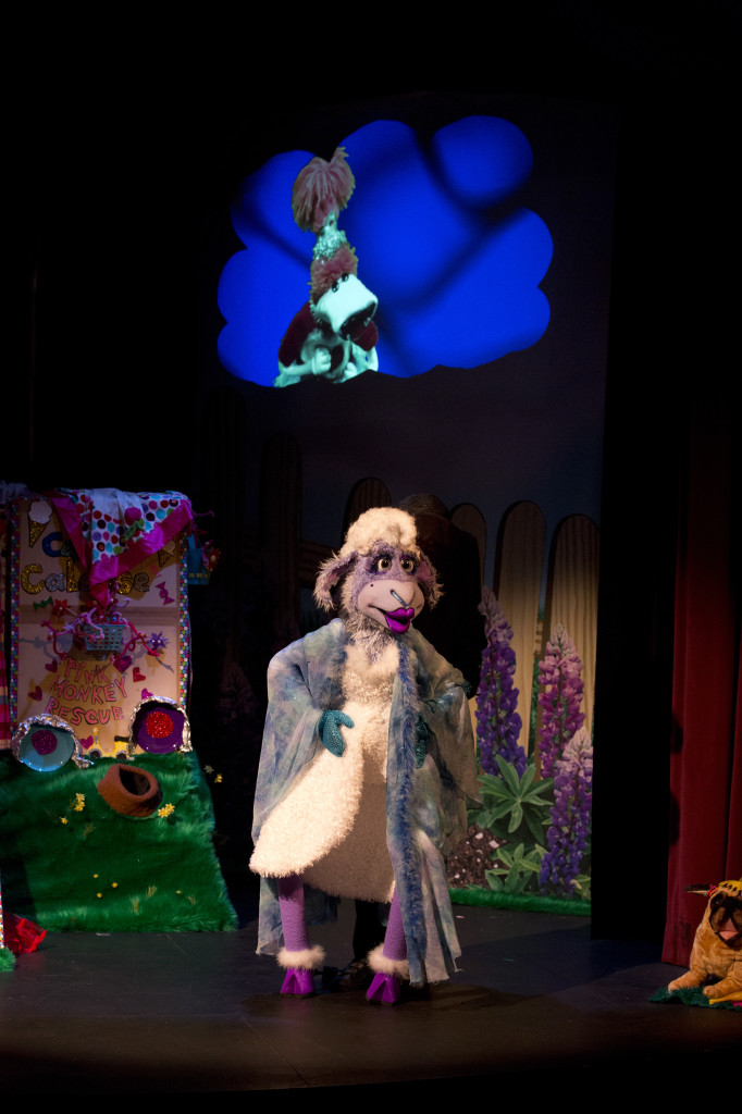 Wake Up Your Weird! Follows Lolly, a  5 year old candy loving sock puppet who gets bullied out of a  play-date.  The audience joins Lolly on her journey as she deals with hurt feelings by weaving a magical tale about a girl and her brain named Doyle, a Fa