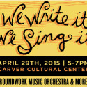 3rd Annual We Write It, We Sing It Concert